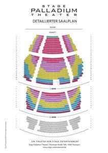 Stage Palladium Theater - Saalplan