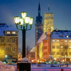 Altes Schloss und Kirche in Stuttgart