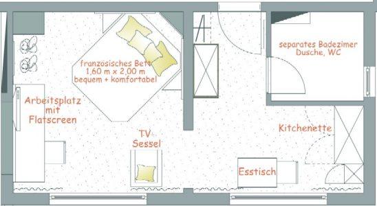 Apartmentgrundriss Nr. 16