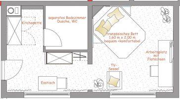 Apartmentgrundriss Nr. 26