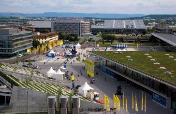 Messe Stuttgart von oben im Überblick