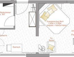 Apartment Grundriss Nr. 12
