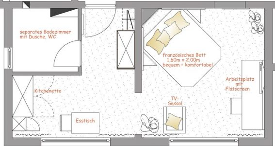 Apartmentgrundriss Nr. 12