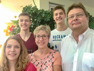 Familienfoto, Ihre Gastgeberfamilie Wegener